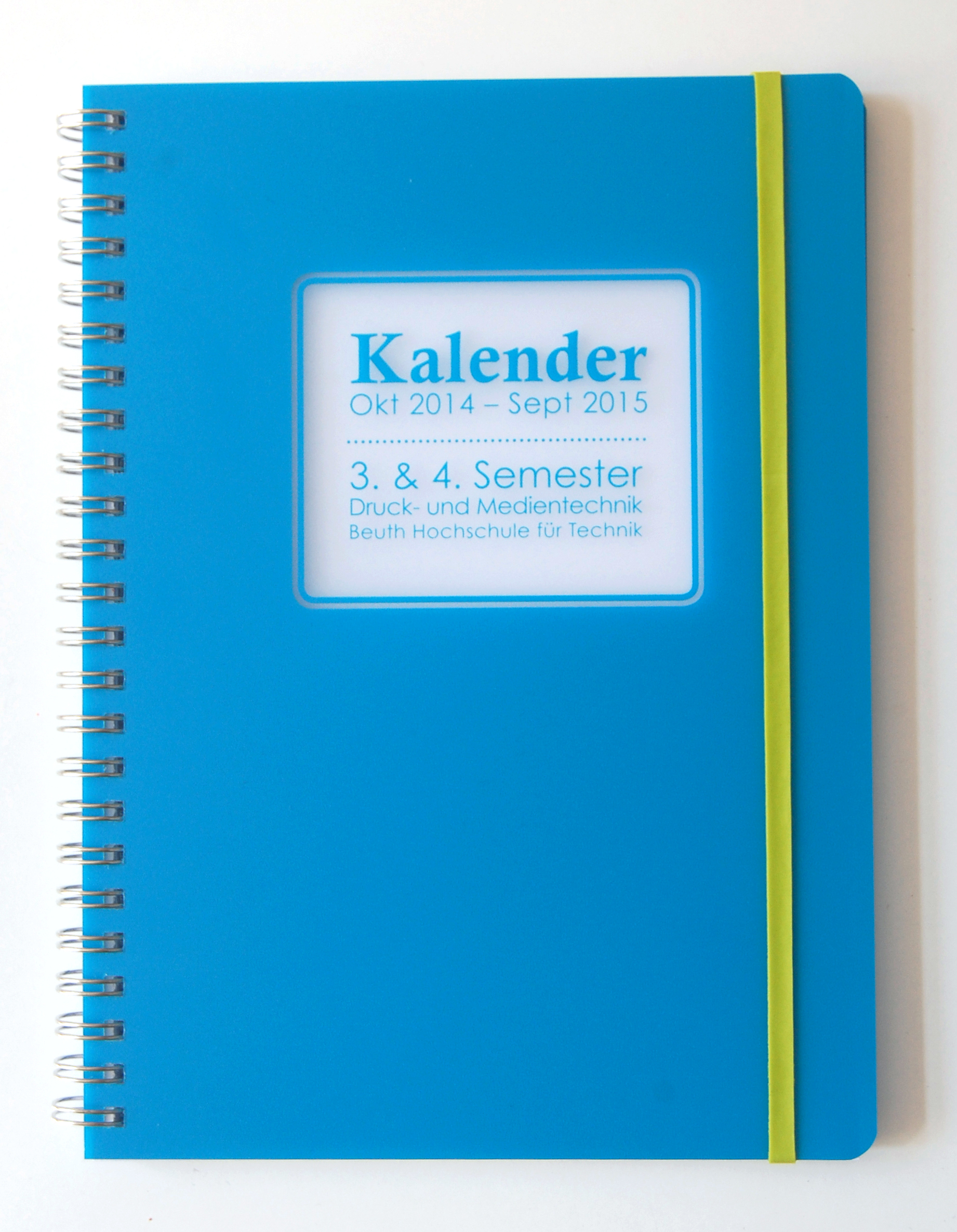 3. & 4. Semester- Kalender